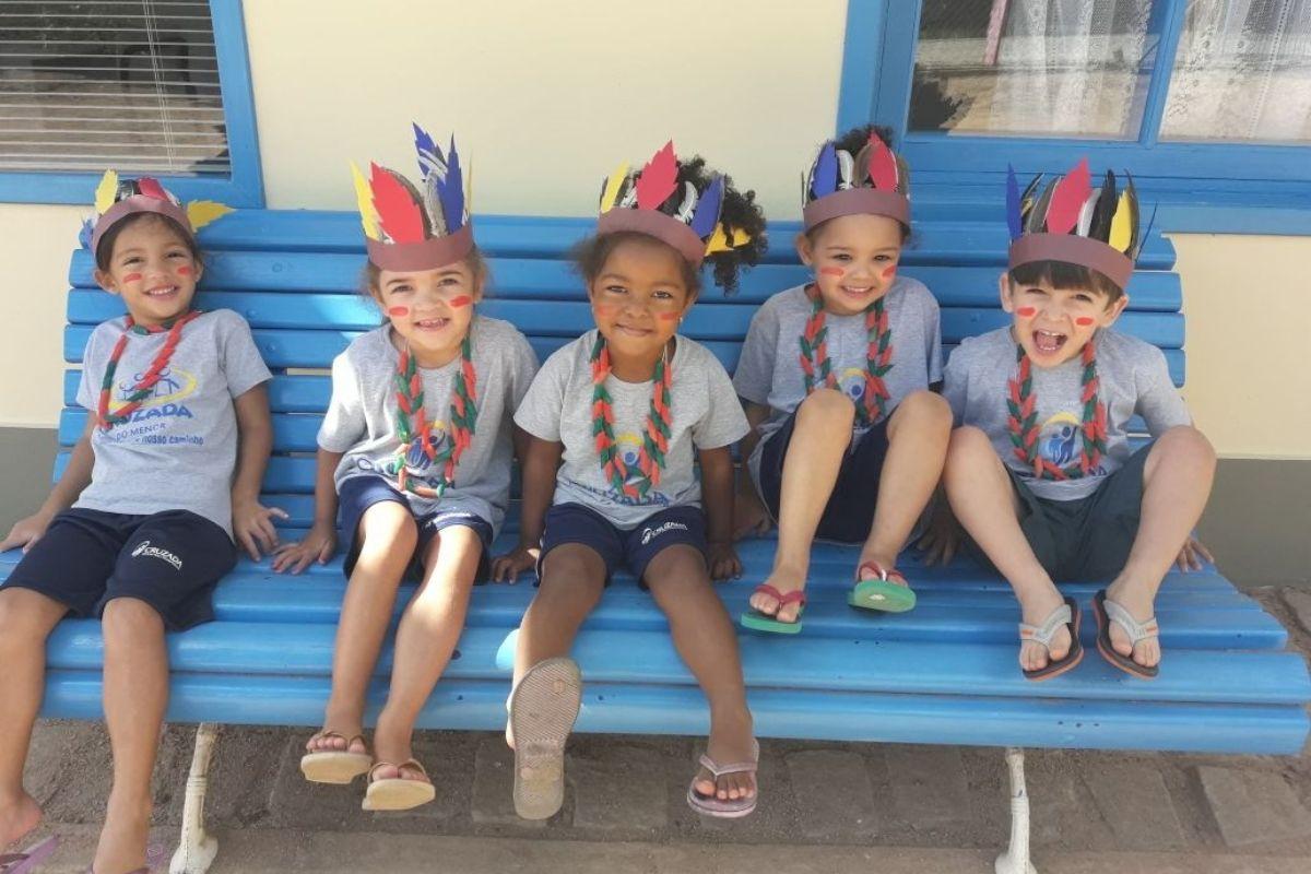 Dia do Índio no Centro de Educação Infantil Daschu