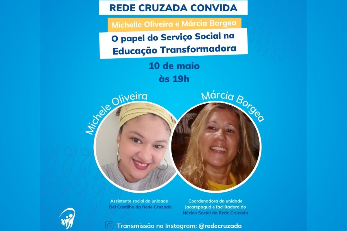 Live com a assistente social, Michele Oliveira